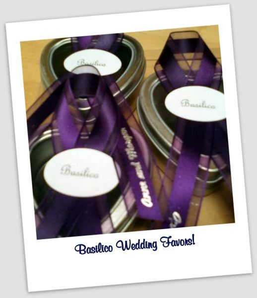 basilico wedding favors
