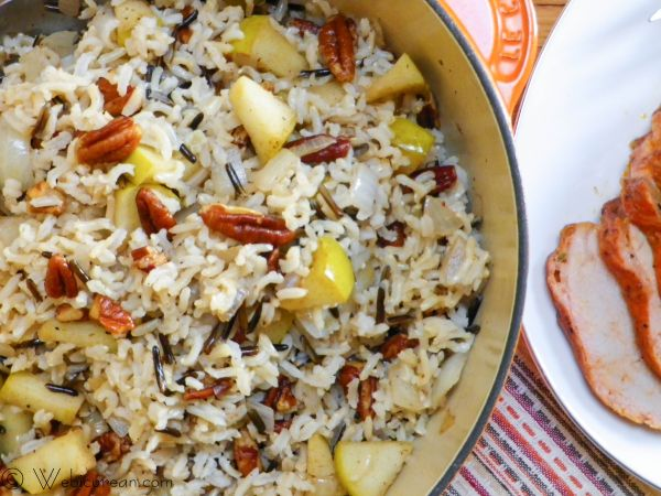 Harvest Rice w/Apples and Pecans | Webicurean