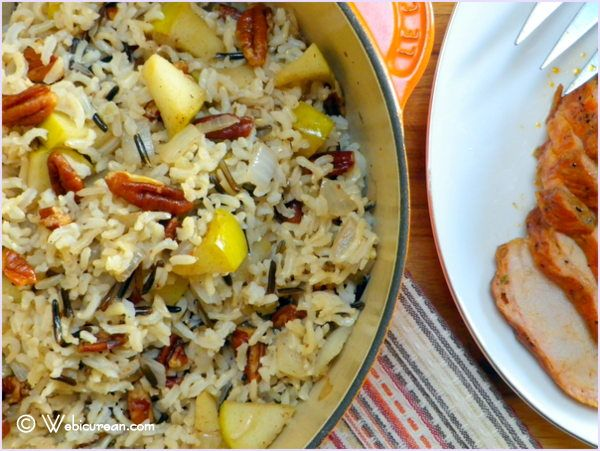 Harvest Rice with Apples and Pecans