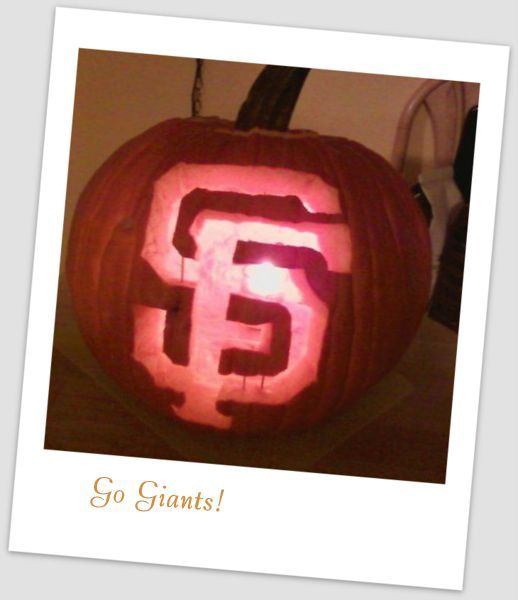 SF Giants Pumpkin