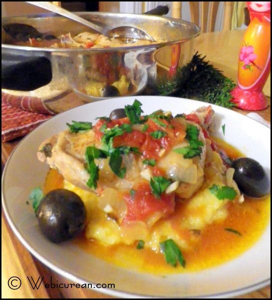 Chicken Cacciatore with Easy Creamy Polenta
