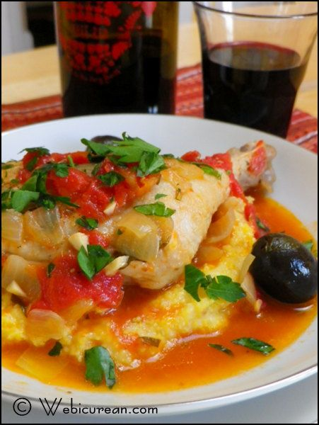 Chicken Cacciatore with Easy Creamy Polenta