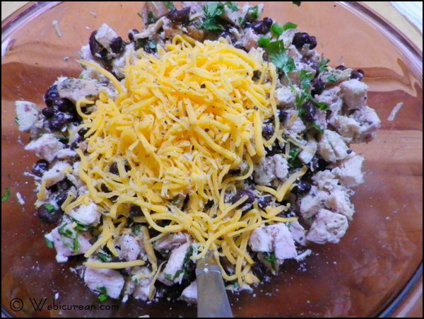 enchilada ingredients in bowl