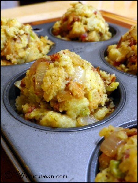 Cornbread Stuffin' Muffins with Fennel, Pancetta and Pecans