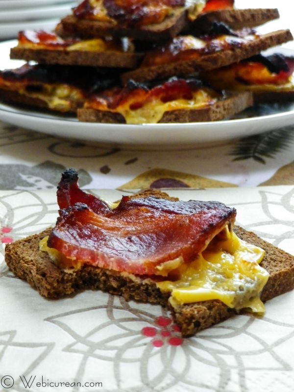 Bacon Cheese Toasts