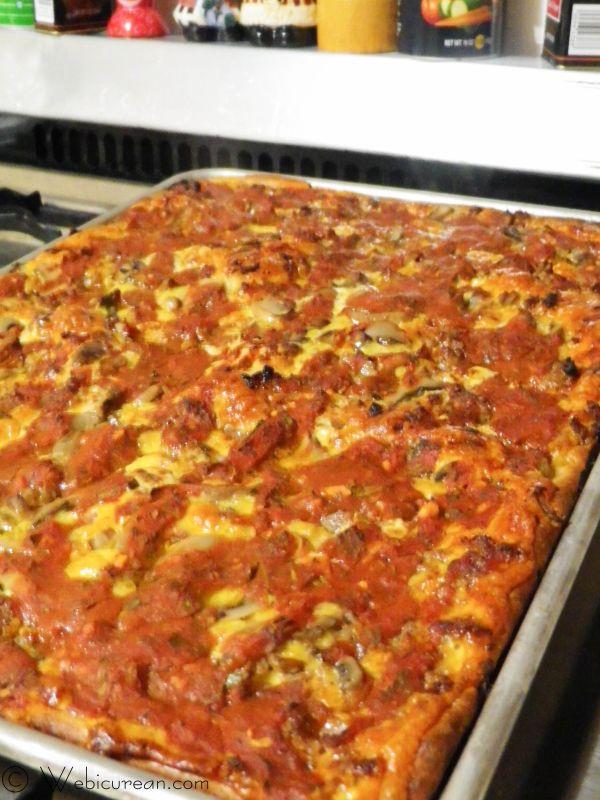 Mom's Homemade Sausage Mushroom Pizza