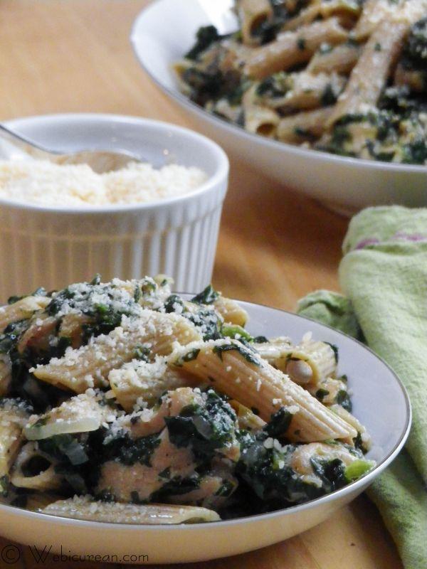 Spinach Chicken Parmigiana Pasta by Webicurean