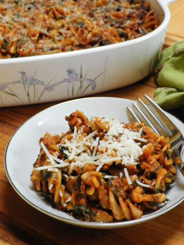 Cheezy Vegan Chorizo Pasta Bake | Webicurean