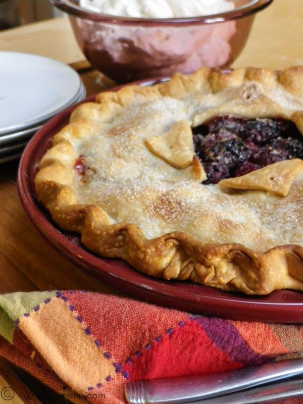 Blackberry Pie w/Brandied Whipped Cream | Webicurean