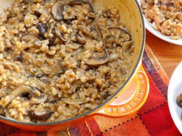 Farrotto (Farro Risotto) with Mushroom Medley | Webicurean