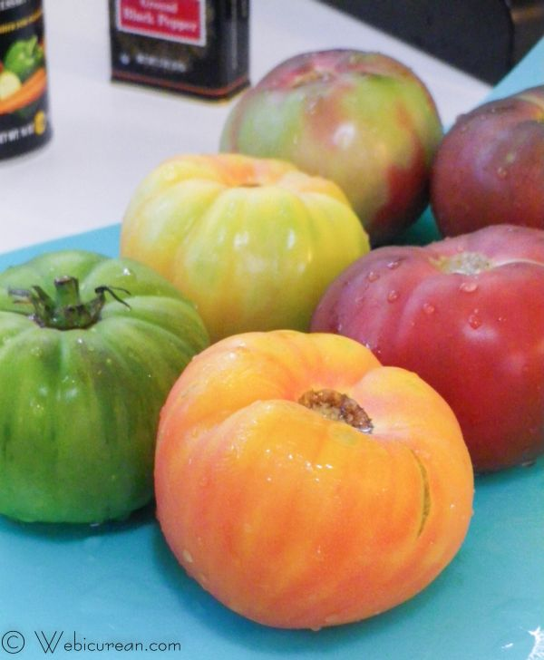 Stuffed Heirloom Tomatoes | Webicurean