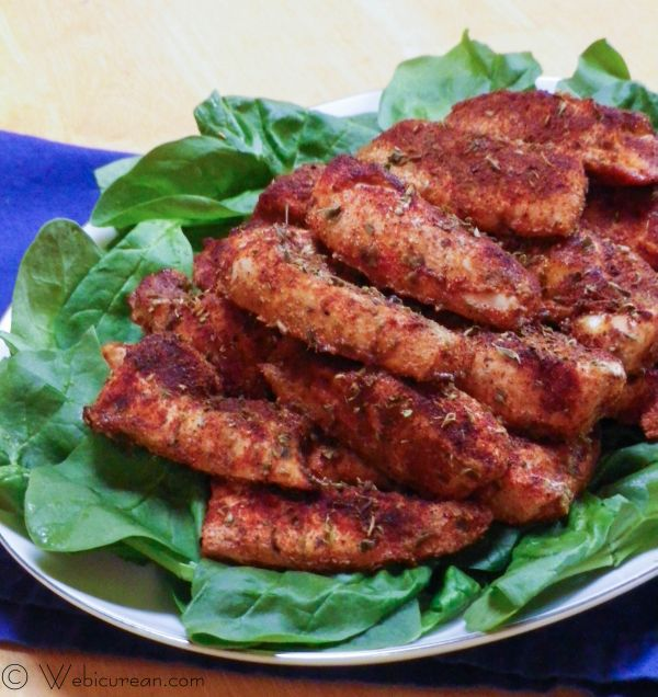 Skinny Buffalo Chicken Strips #SundaySupper | Webicurean
