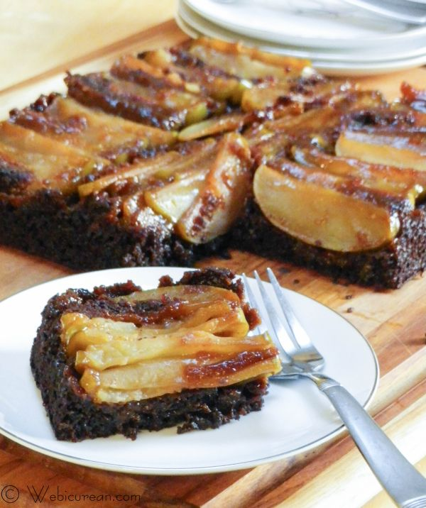 Apple Gingerbread Upside-Down Cake | Webicurean