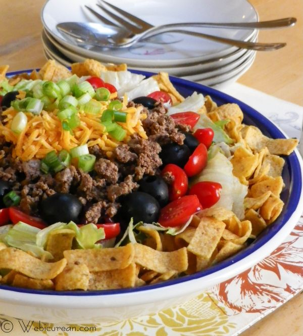 Penny's Taco Salad #SundaySupper | Webicurean