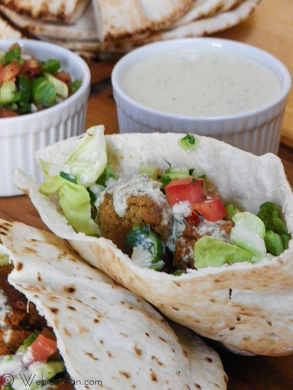 Falafel with Israeli Salad #SundaySupper | Webicurean