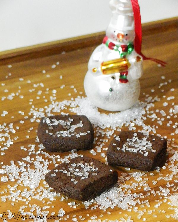 Double Chocolate Sablés #TwelveDaysofSanta | Webicurean