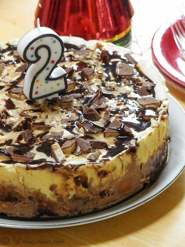 Kahlua-Toffee Ice Cream Cake #SundaySupper | Webicurean