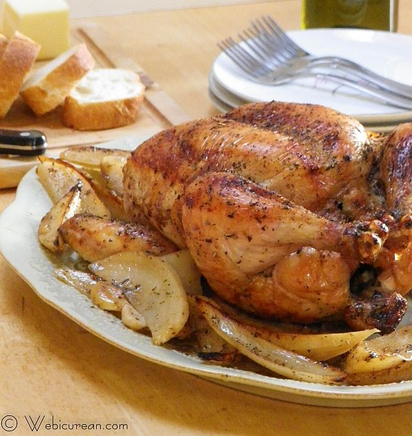 Drunken Chicken and Potatoes #SundaySupper | Webicurean
