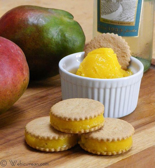 Mango Moscato Sorbet #SundaySupper | Webicurean