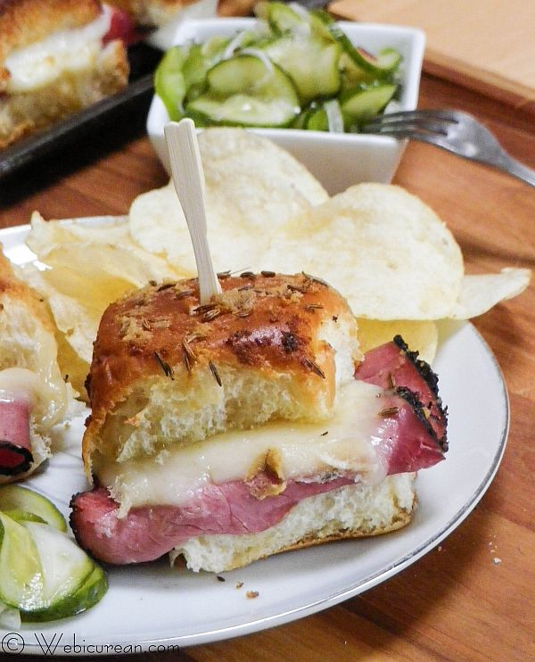 Hot Pastrami Sliders #SundaySupper | Webicurean